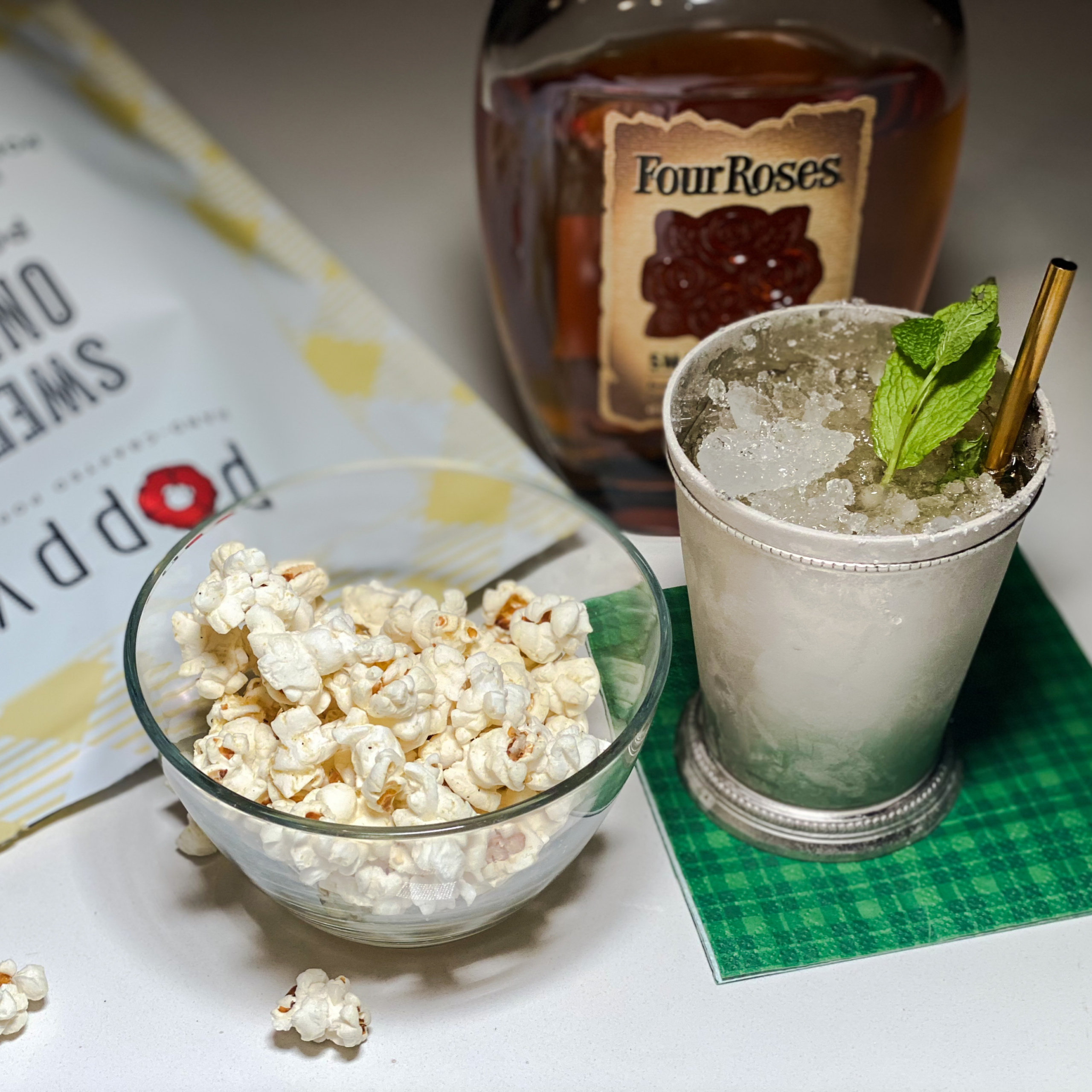 Mint Julep Cocktail Pairs Well With Sweet Onion Popcorn