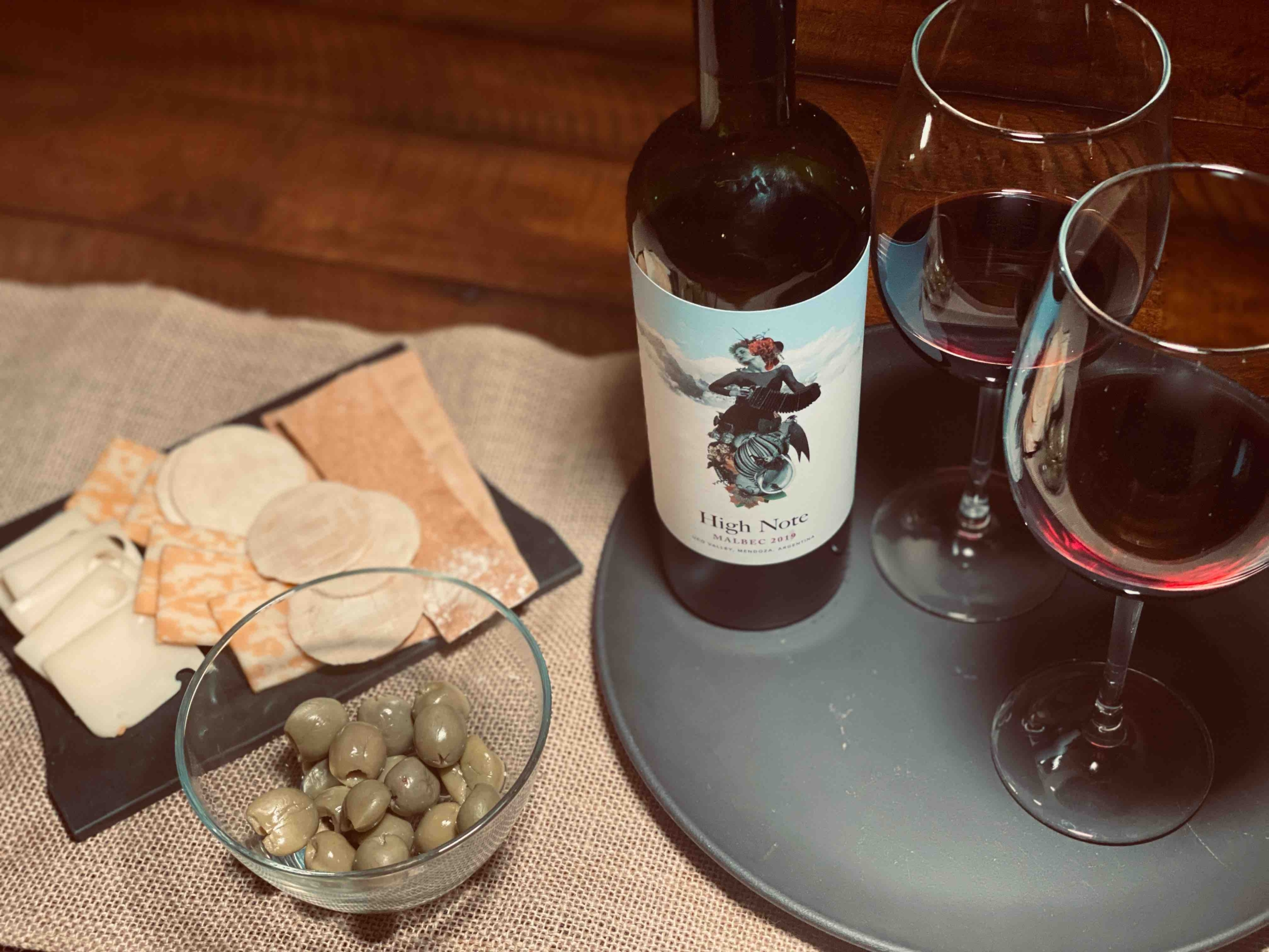 High Note Malbec Wine of Argentina