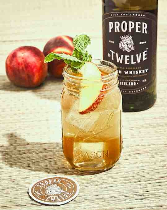 Proper Peaches Is A Delicious And Extremely Effective Whiskey Cocktail To Enjoy The Last Days of Summer