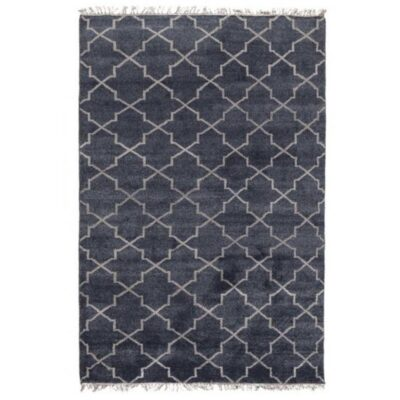 Classic Home Villa Hand Knotted Terrace Navy 5×8