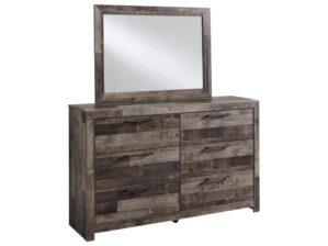 Benchcraft by Ashley Derekson Rustic Modern Dresser & Bedroom Mirror