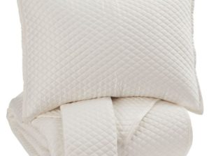 Dietrick Queen Quilt Set Ivory