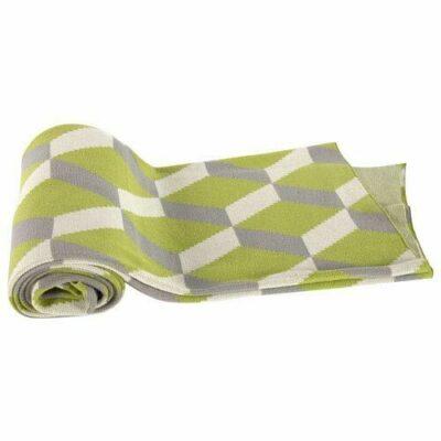Cotton Cashmere Throw Green