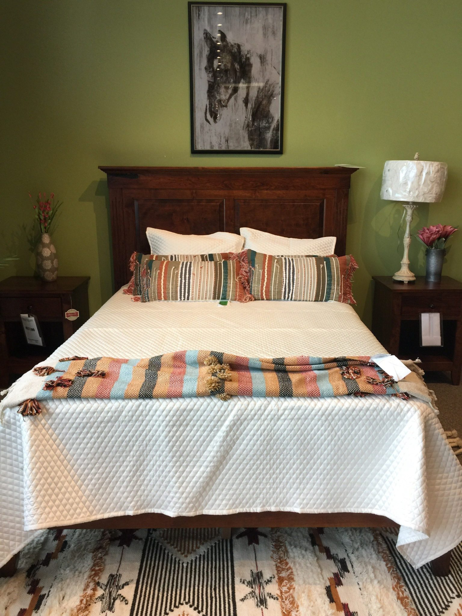 Shenandoah Deluxe Headboard Bed with Michael's Stain