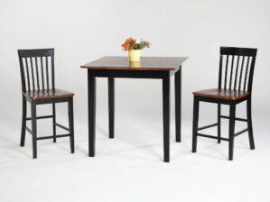 Amesbury Chair Pub Table Black and Cherry