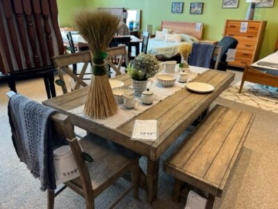 Amesbury Chair Aspen Rustic Dining Table