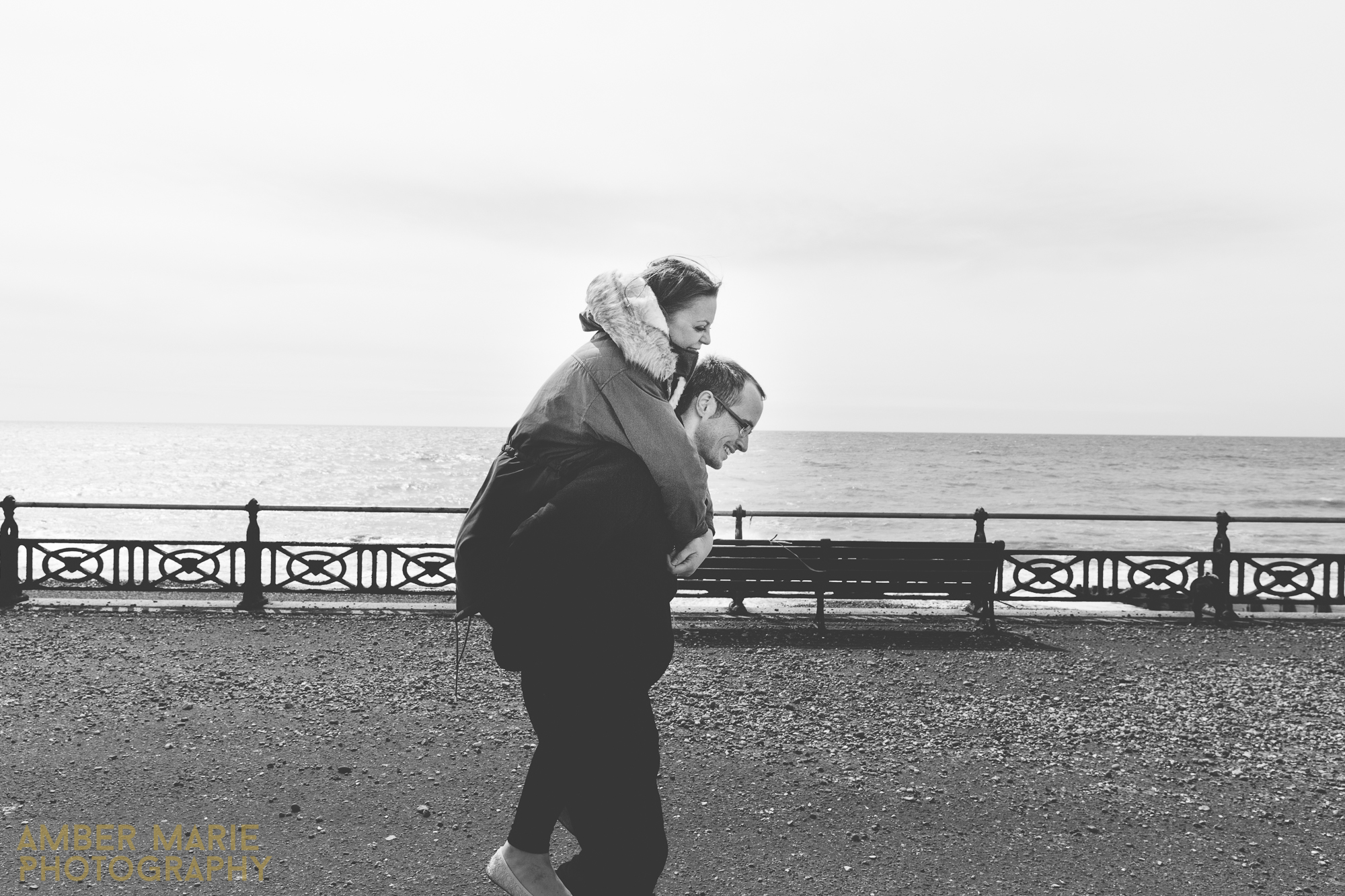 creative brighton engagement shoot with leeds wedding photographer