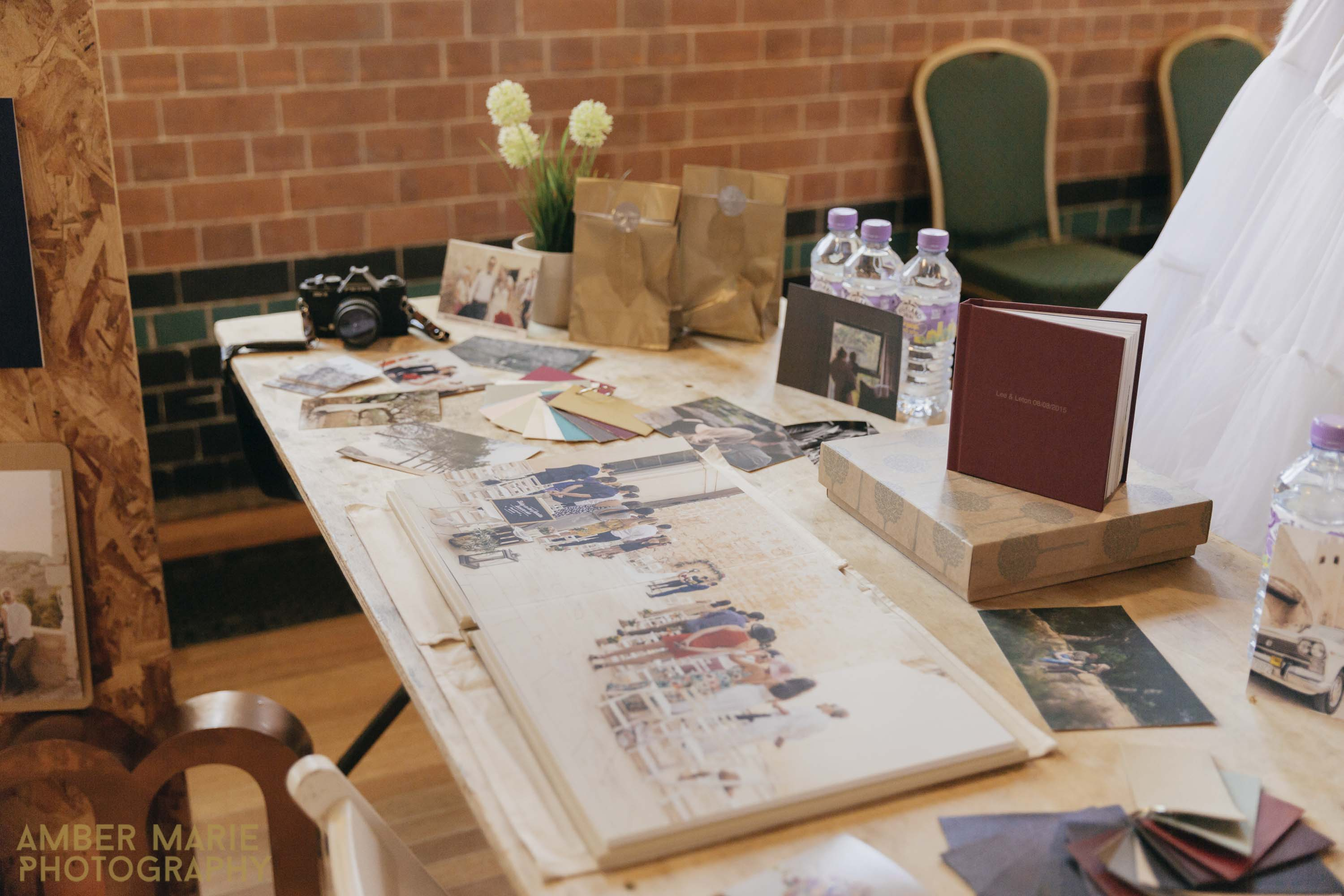 Eco friendly wedding albums by creative wedding photographers in Yorkshire and cheltenham