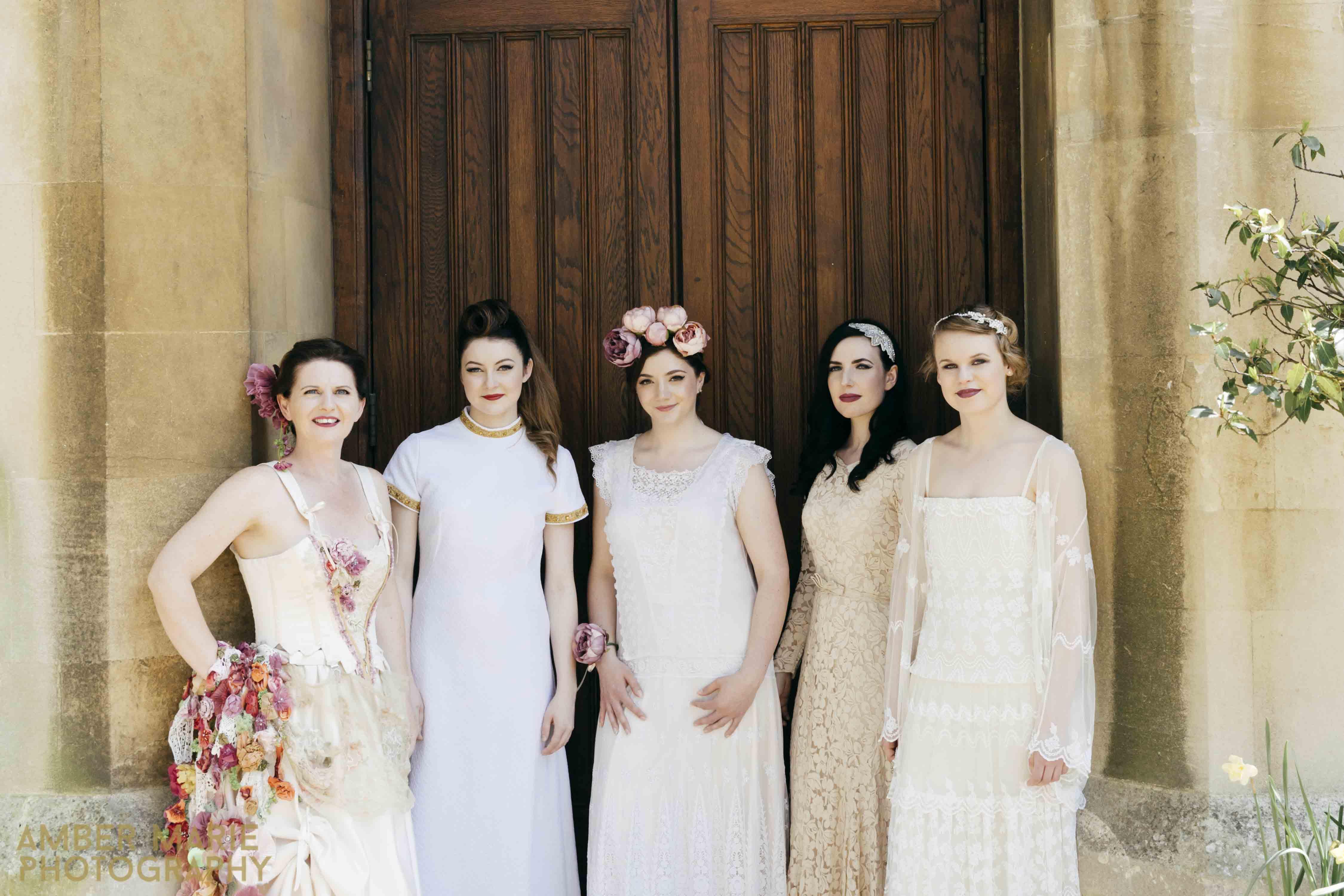 Vintage bridal portraits and bridal fashion photography by creative wedding yorkshire wedding photographer amber marie photography