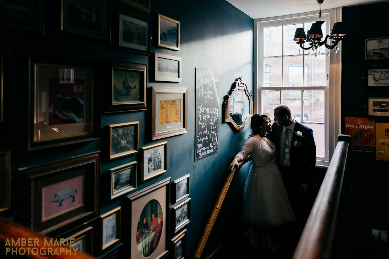 Creative Yorkshire wedding photographer leeds town hall wedding