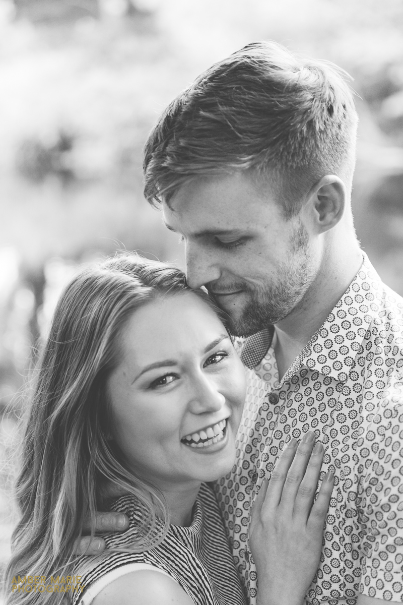 black and white couple portrait Best engagement photography in The Cotswolds