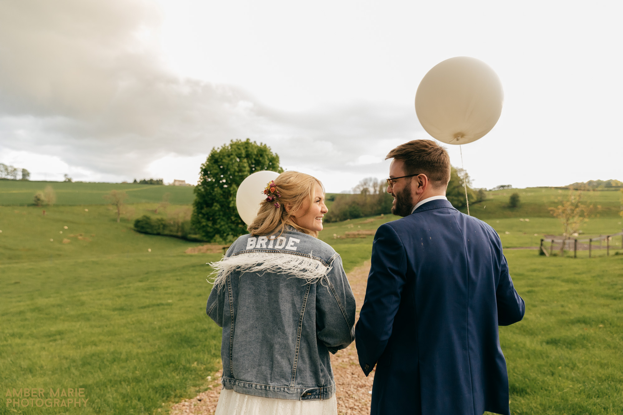 sunset portraits by kingscote barn wedding photographer