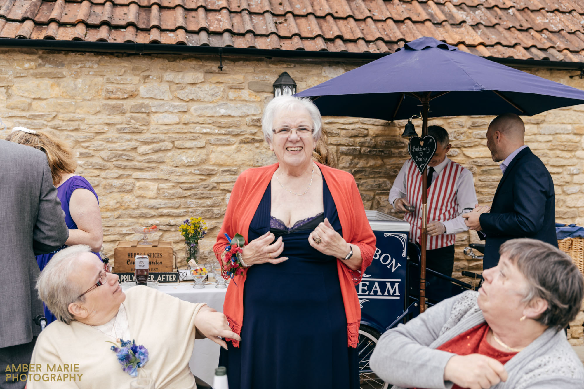 fun wedding photographers kingscote barn