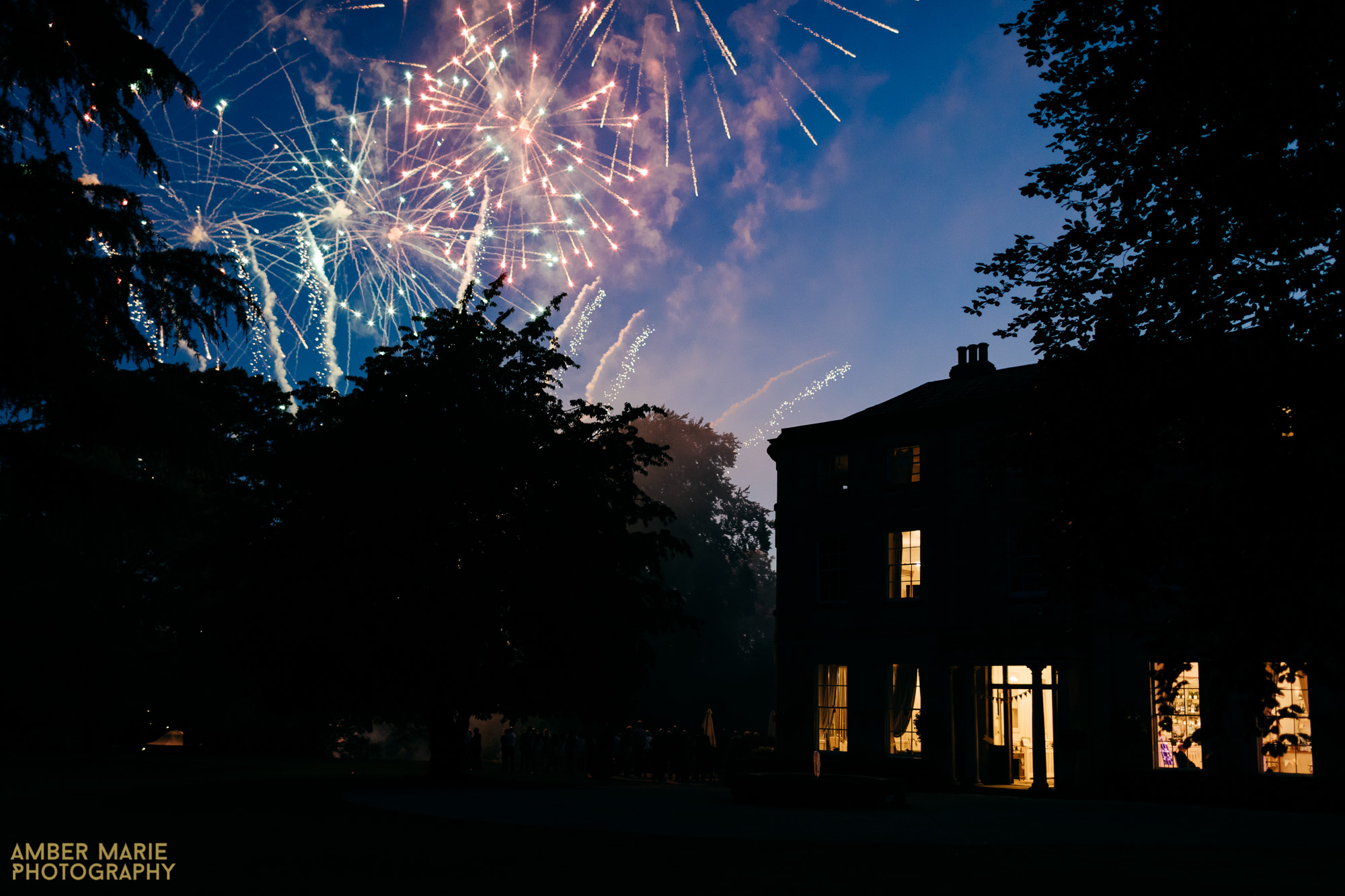Eastington Park Wedding fireworks