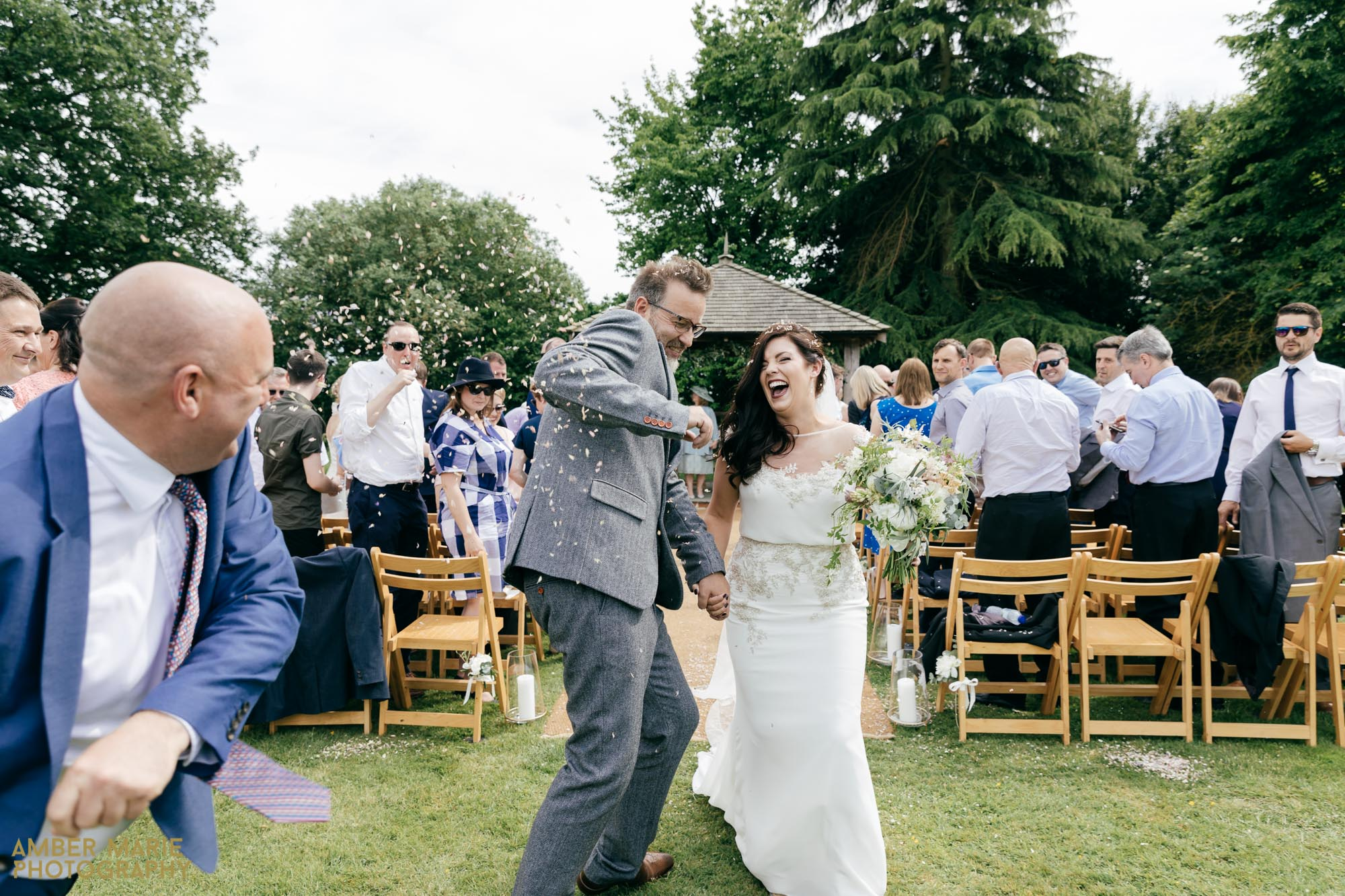 garden wedding at the great lodge