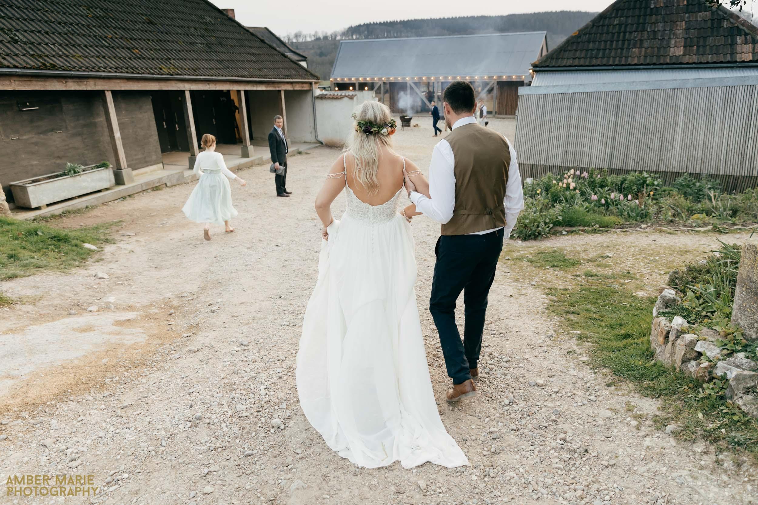boho bride at river cottage spring wedding