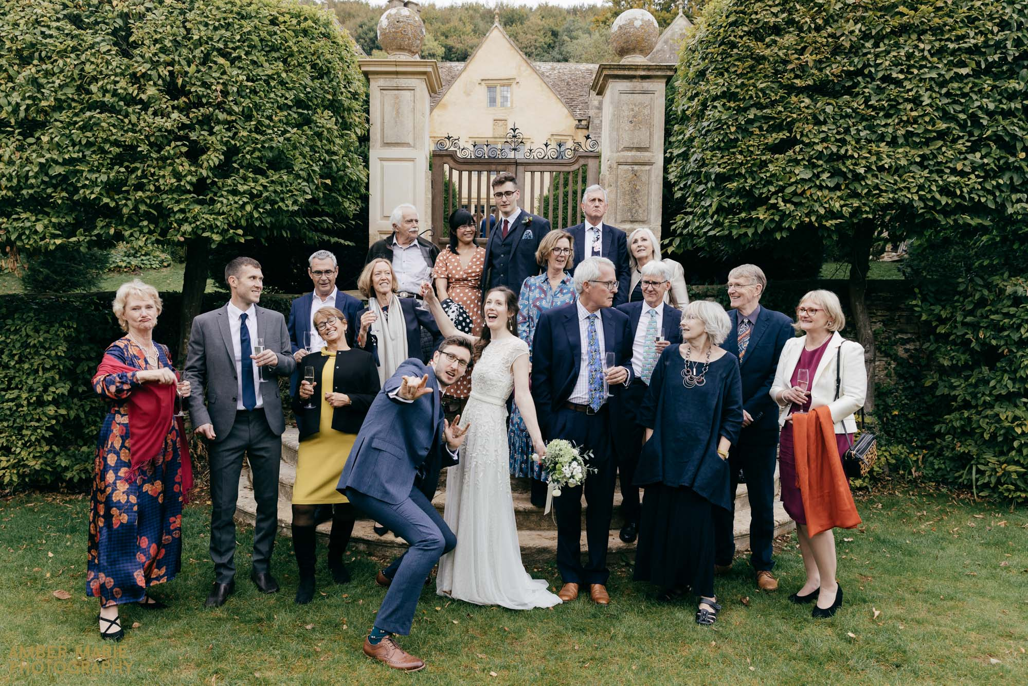 fun wedding photography cotswolds