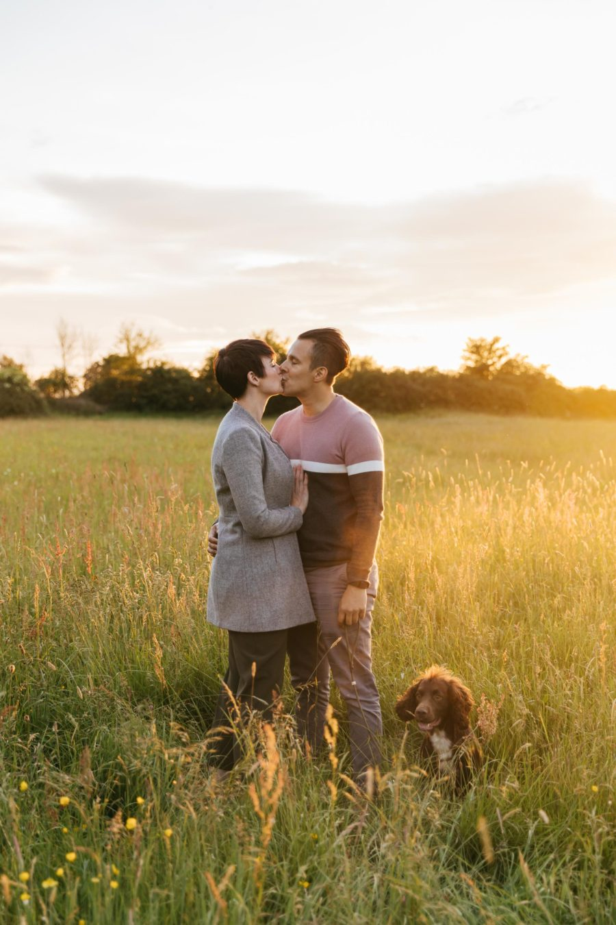 Stacey & Hassan's Sunset Engagement Photos – Cotswold Engagement Photography