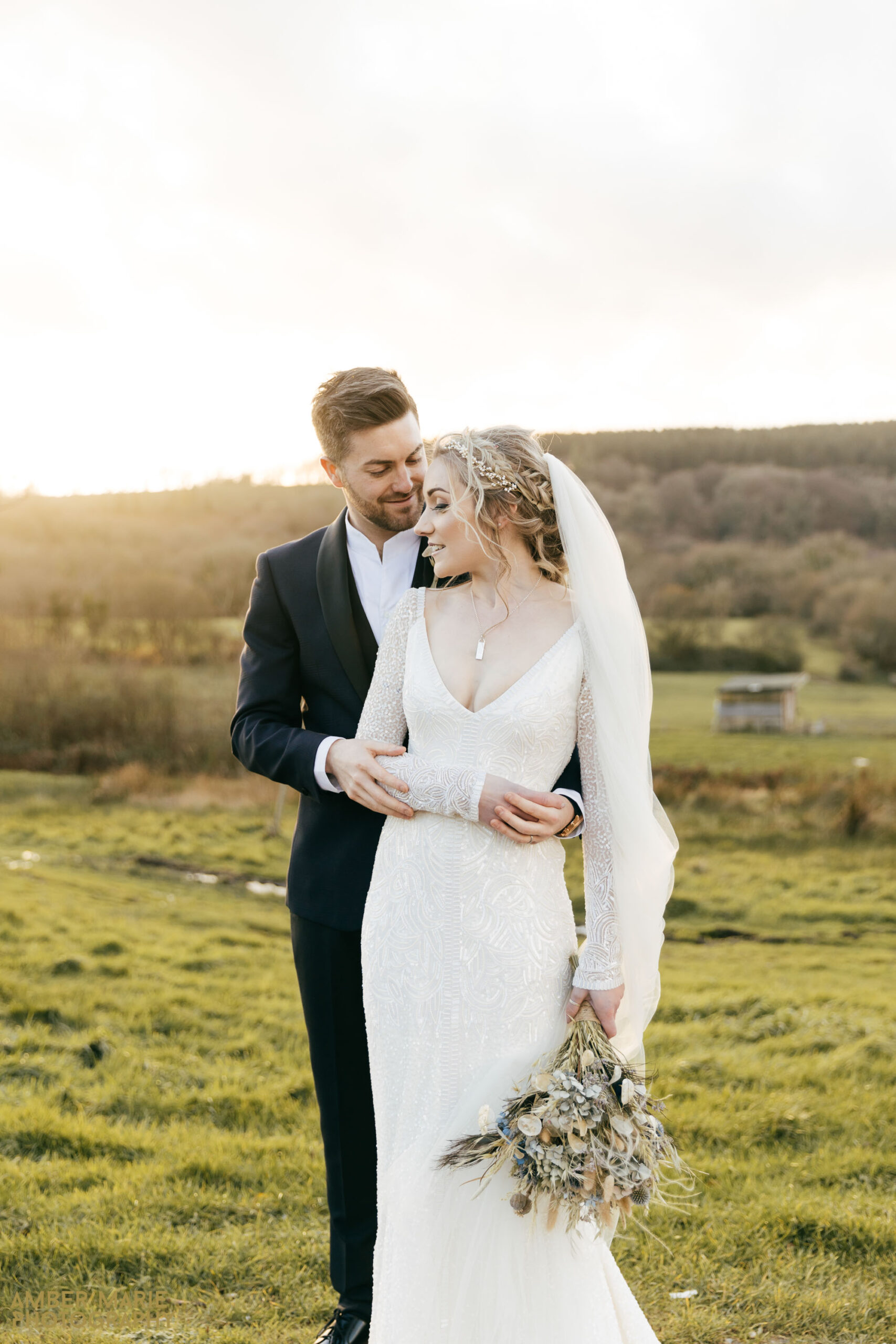 beautiful winter wedding photographer