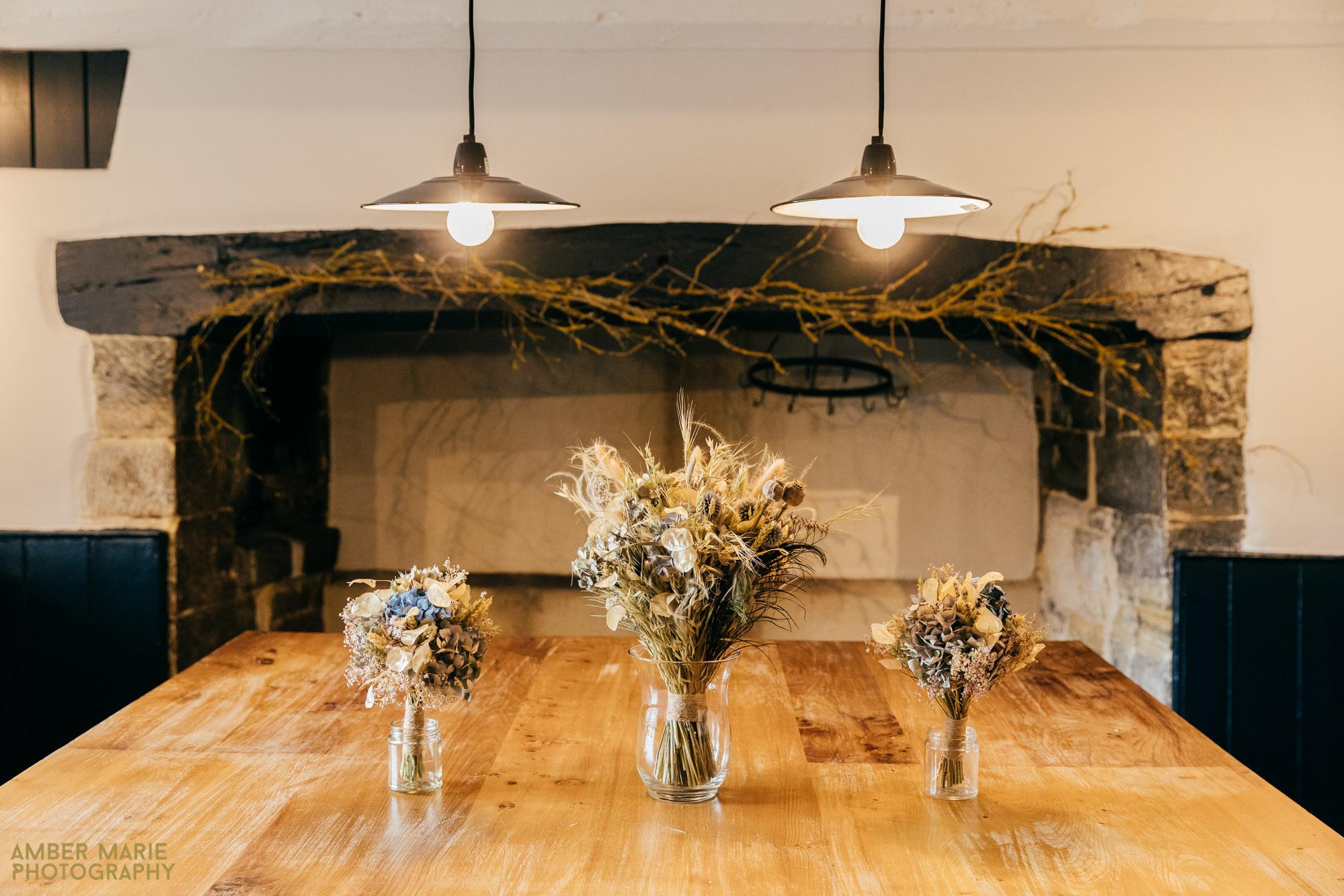 dried bridal bouquet by kraft flower company