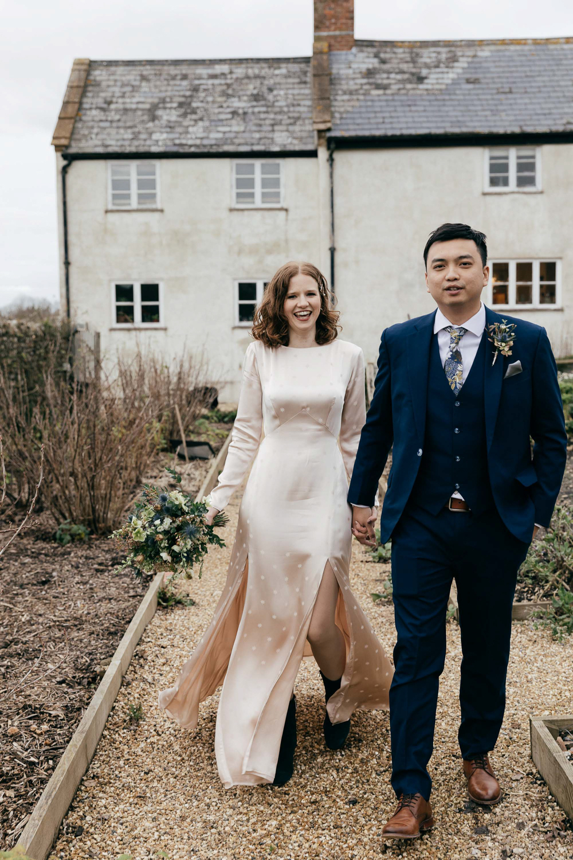 Natural couples portraits at River Cottage