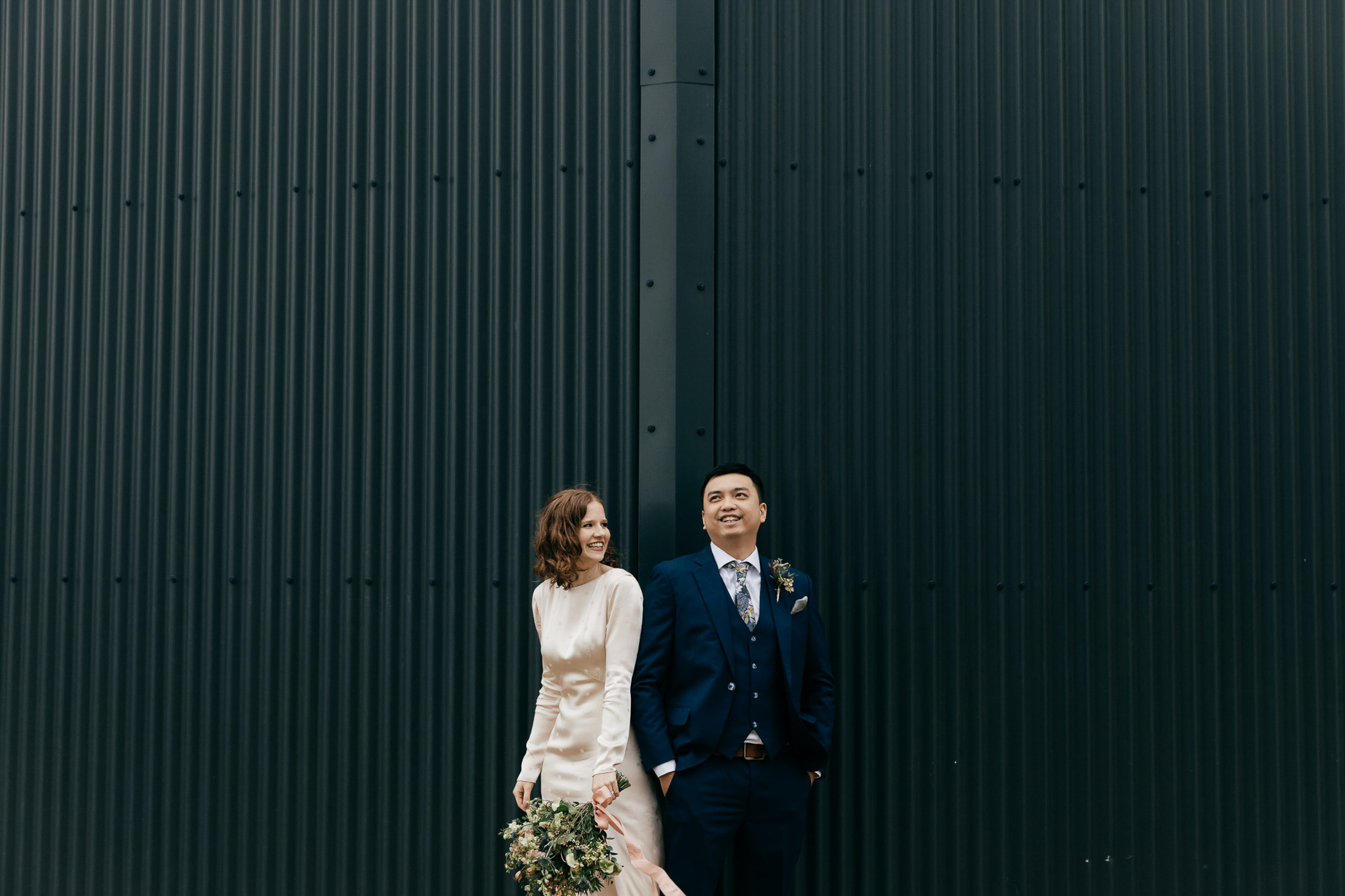 Creative Wedding Portraits by Gloucestershire wedding photographer