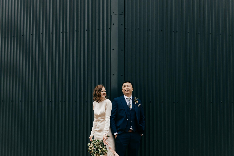 Creative Wedding Portraits by Gloucestershire wedding photographer