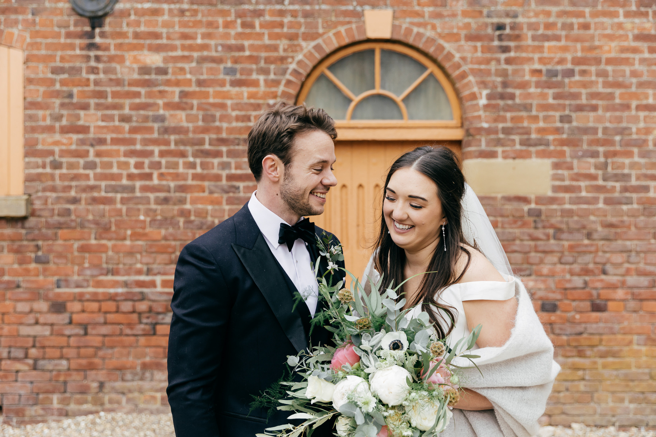 relaxed bride and groom wedding photography