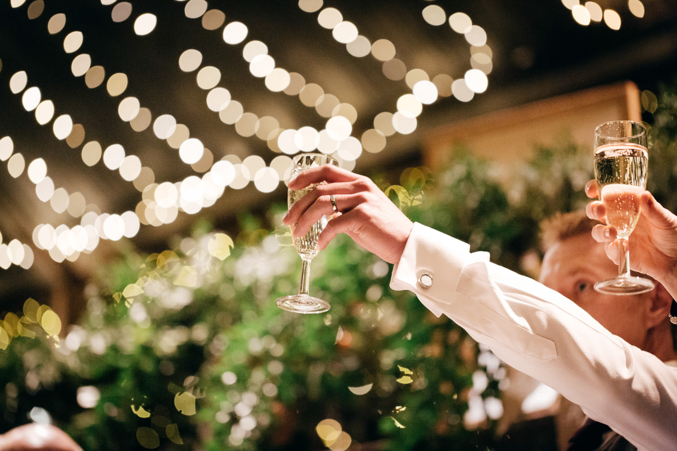 Creative close up of speeches at cripps barn wedding in gloucestershire