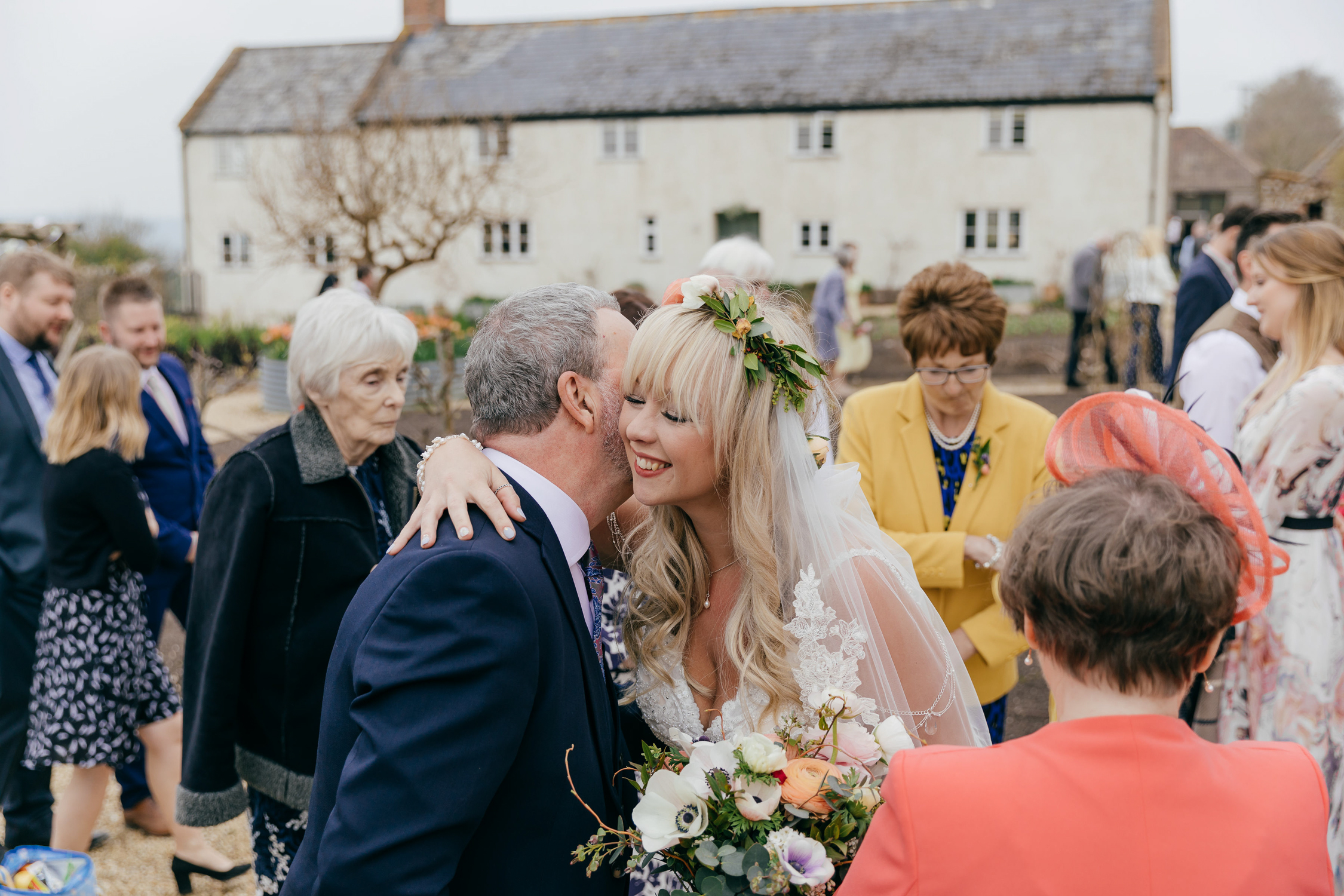 Candid and natural wedding photography at river cottage