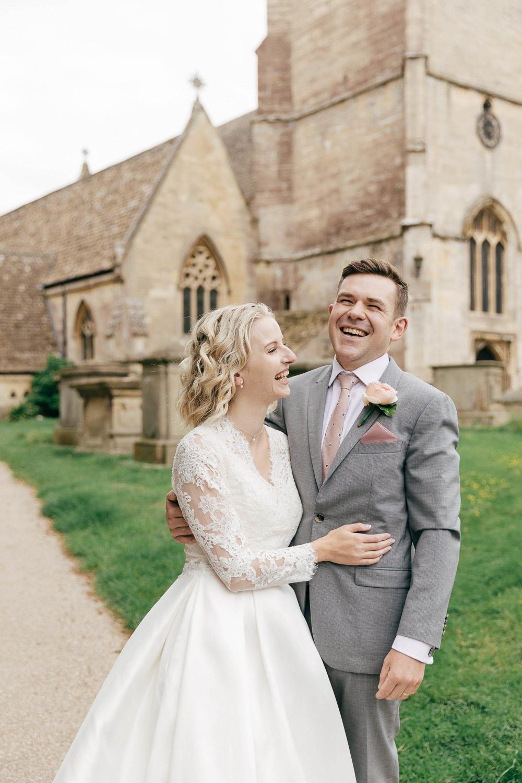 natural wedding photography at cotswold church wedding