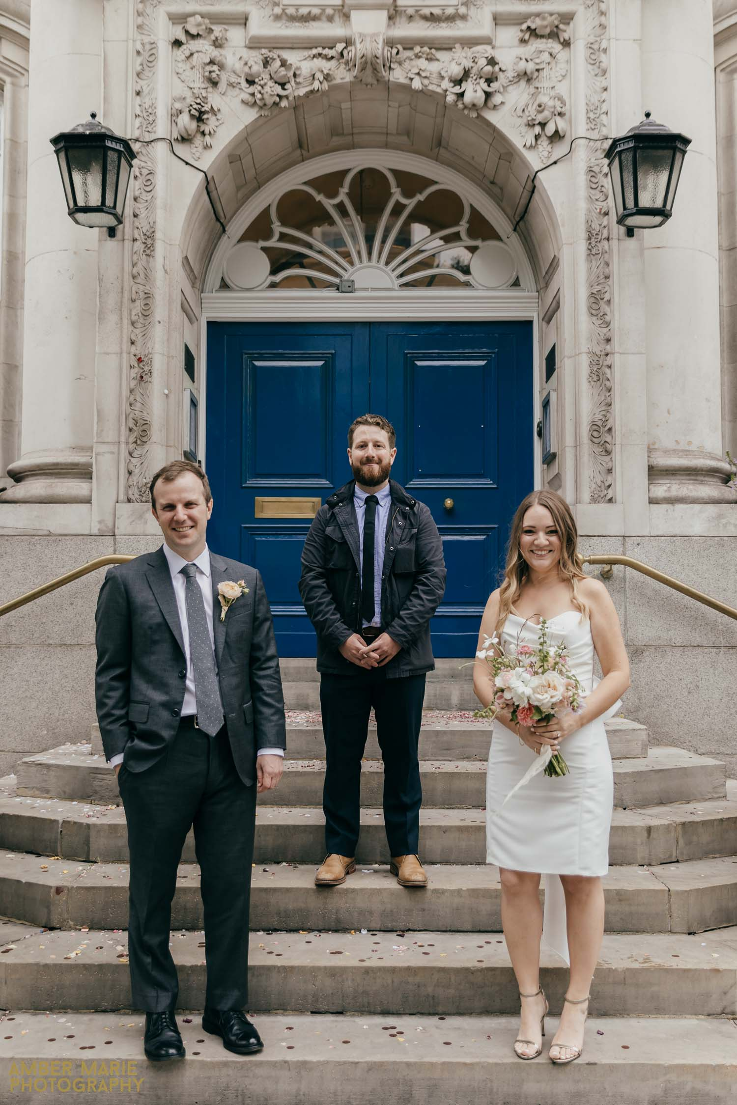Socially distanced wedding photography by Contemporary London Wedding Photographer