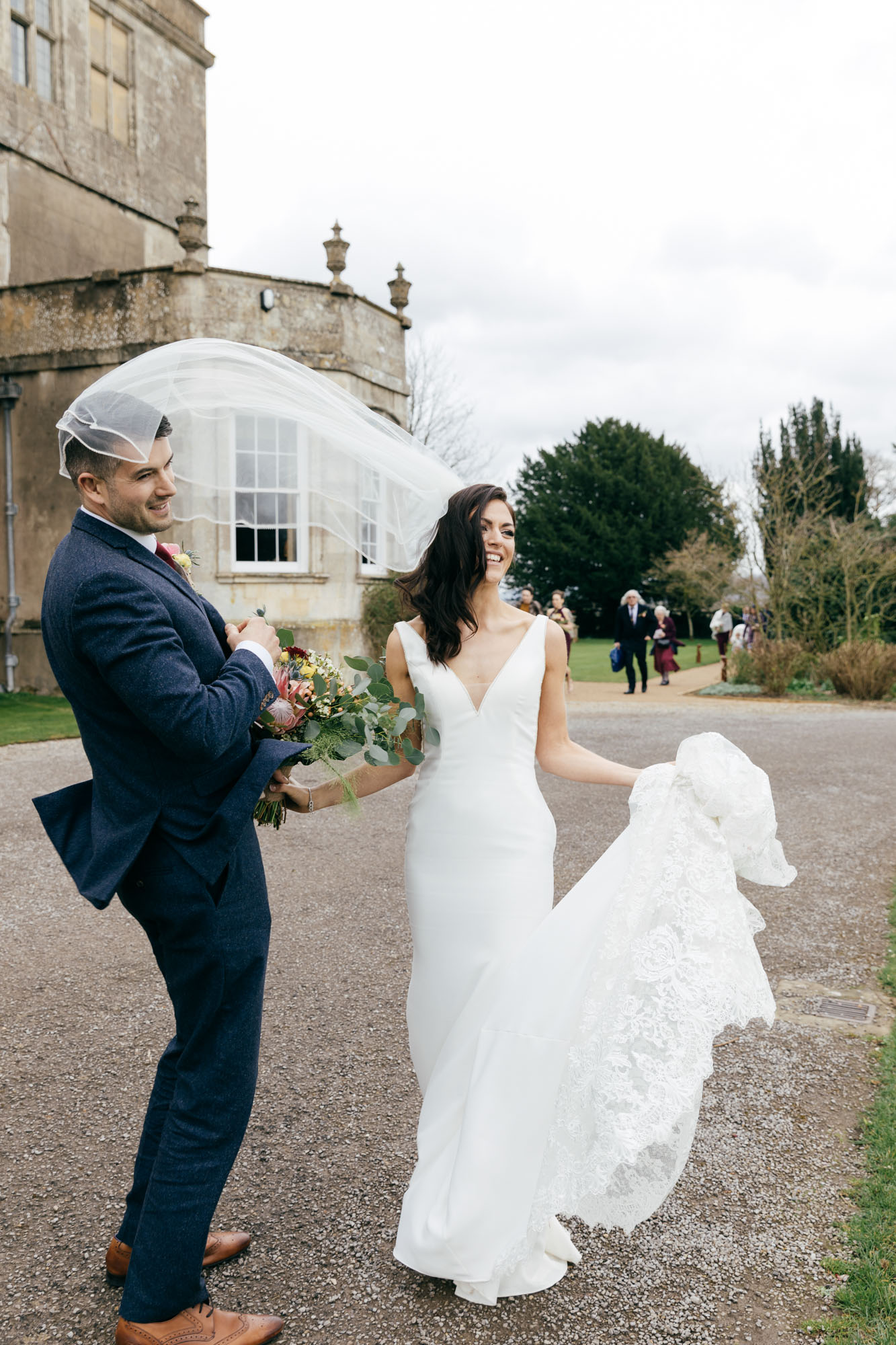 Natural wedding photography at Elmore Court Gloucestershire