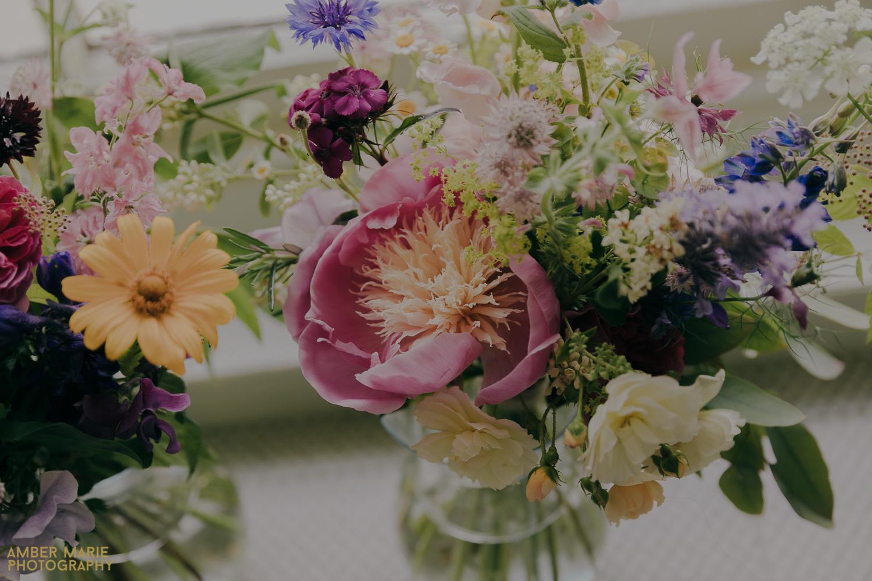 Peony summer wedding boquet