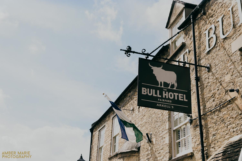 Bull hotel wedding in Fairford