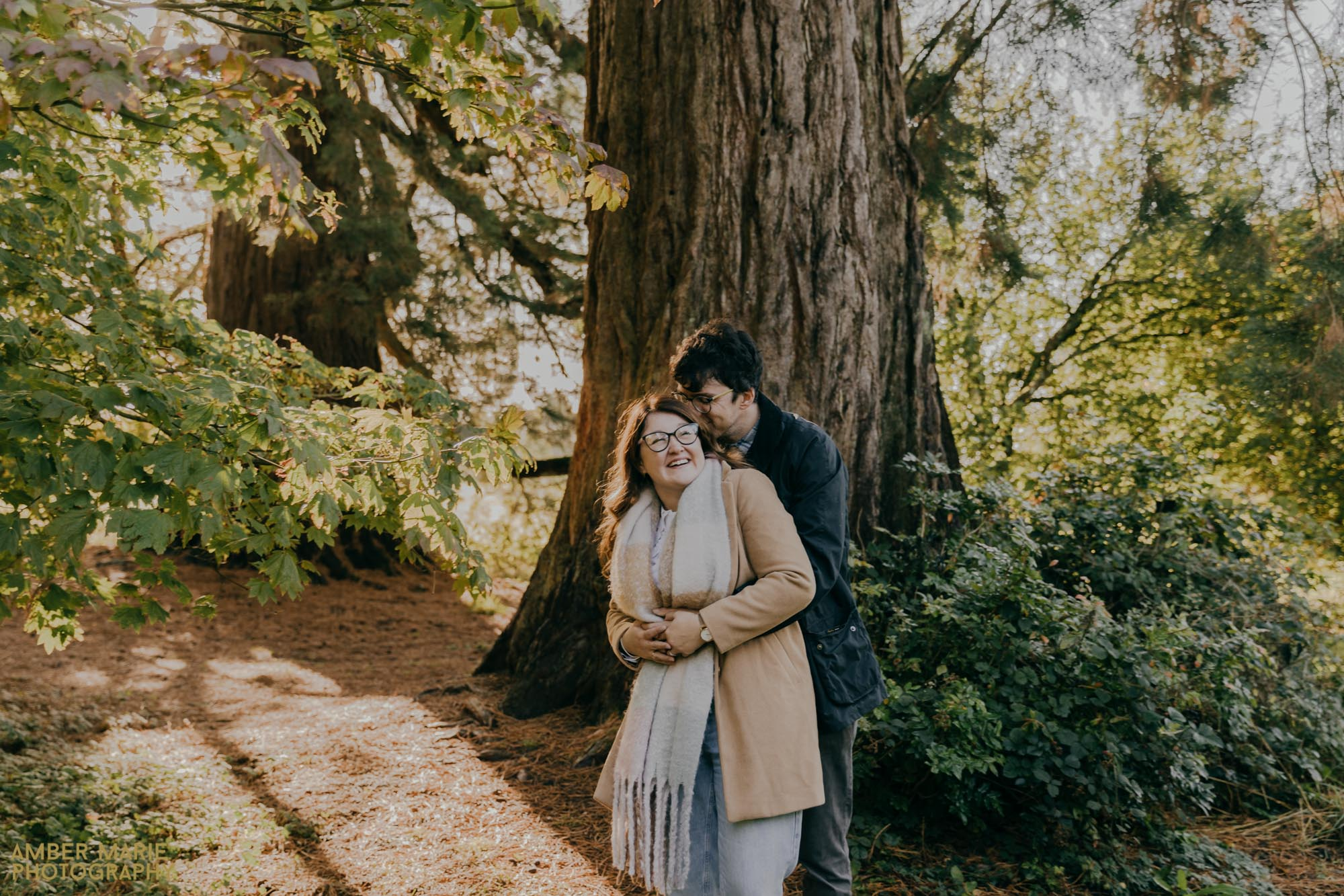 Autumn engagement photos in The Cotswolds