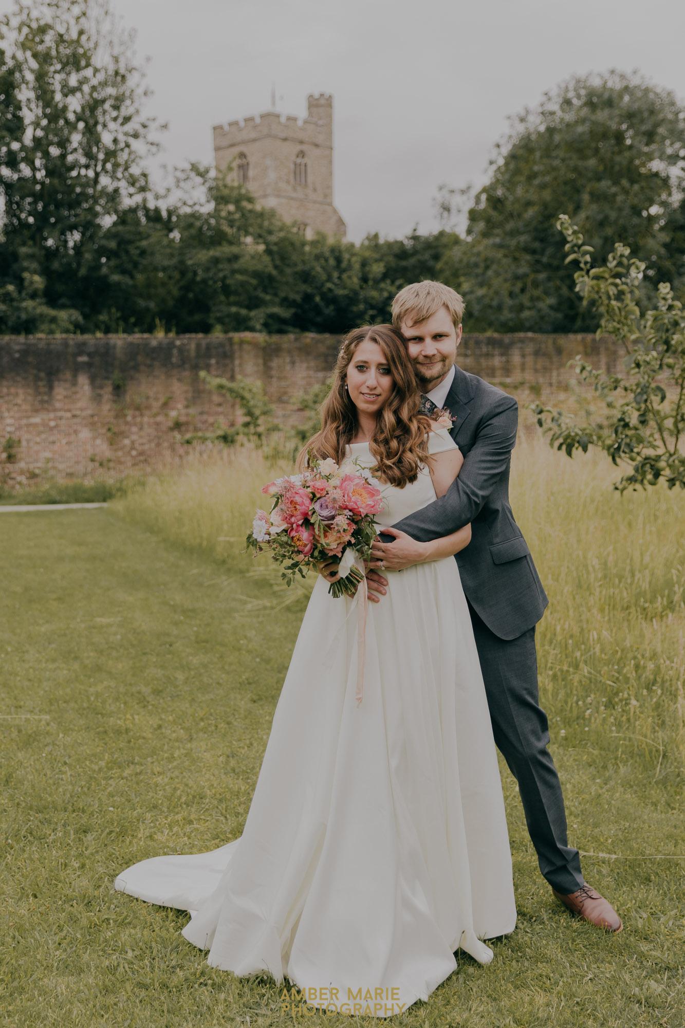 Fulham Palace walled garden wedding portraits