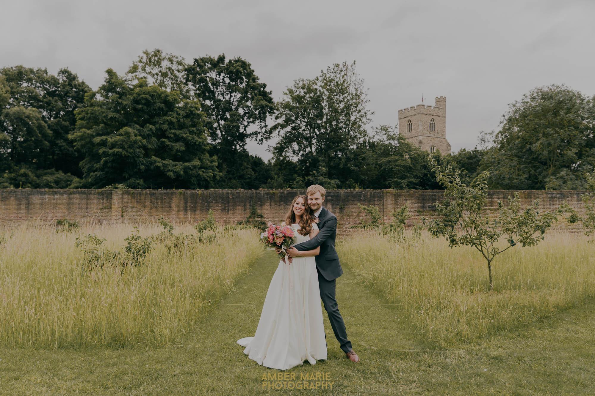 Fulham Palace walled garden wedding photoshoot