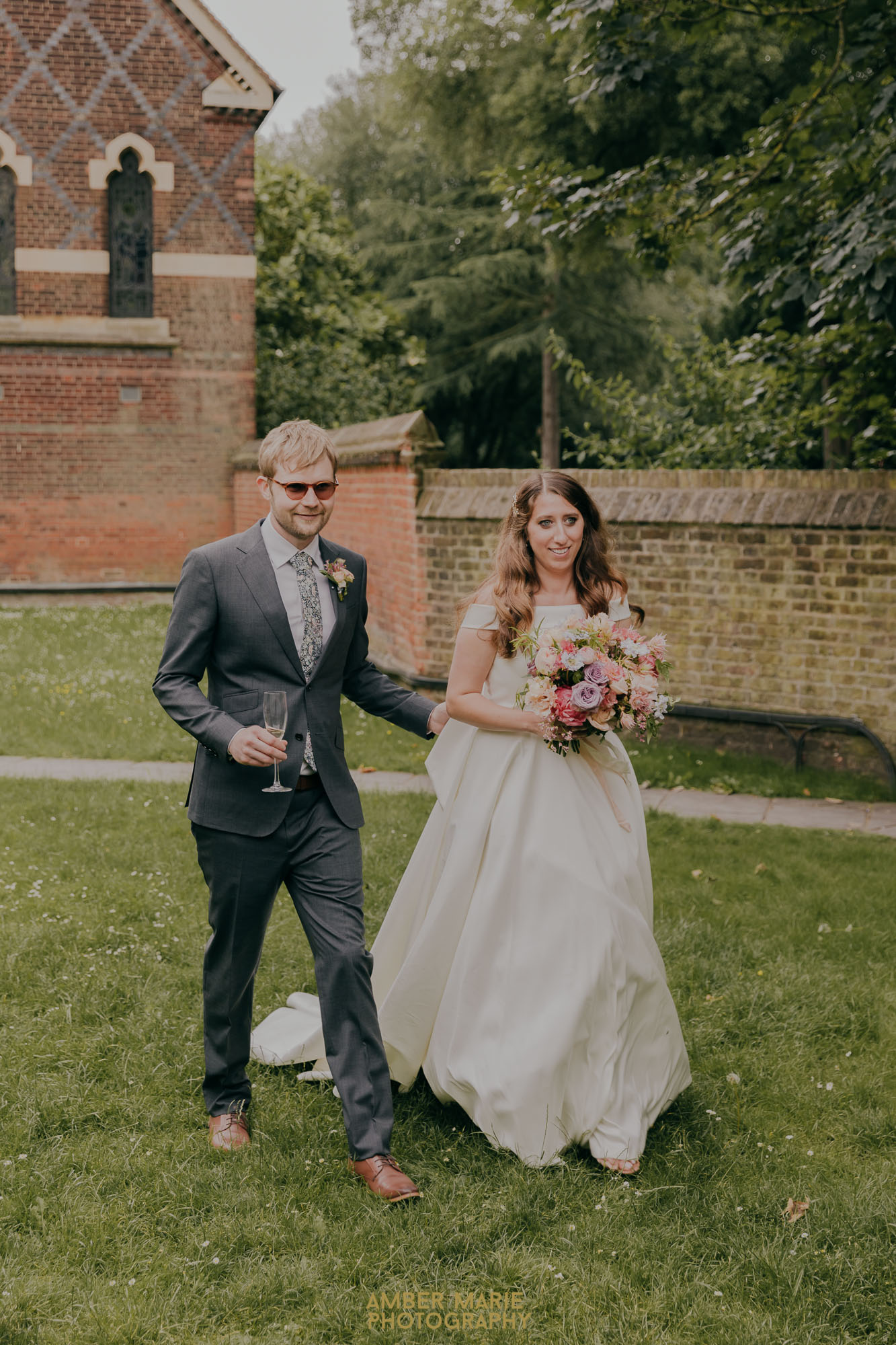 natural wedding photography of bride and groom