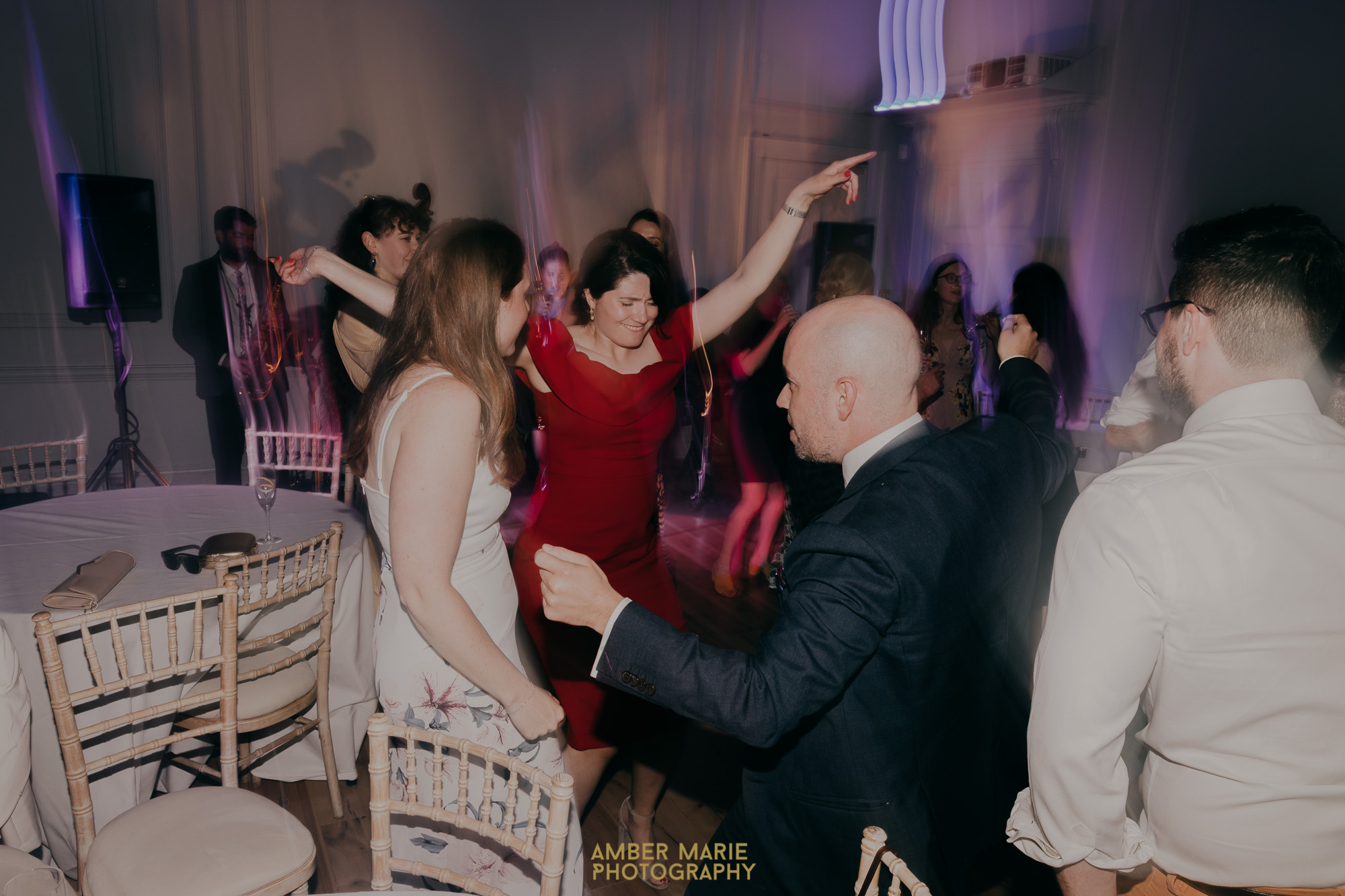 Guests dancing at Fulham Palace Wedding Venue