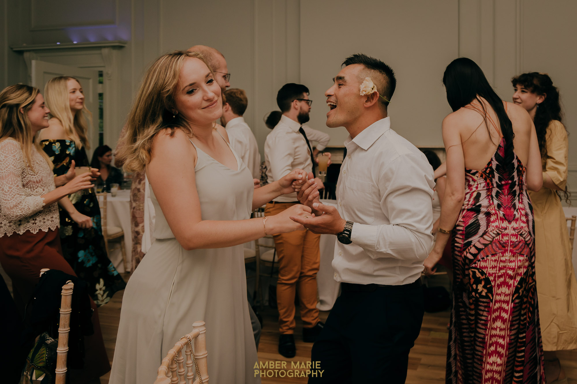Dancing at Fulham Palace Wedding