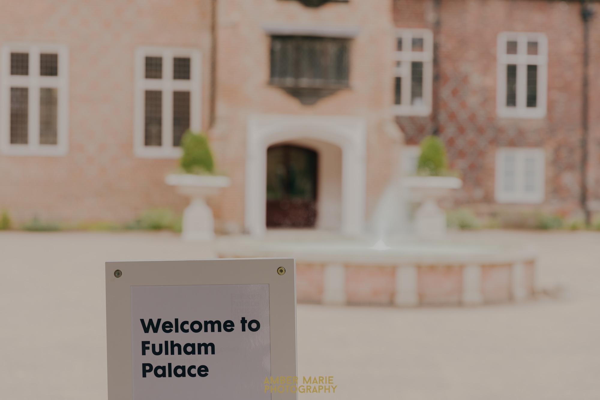 summer wedding at Fulham Palace