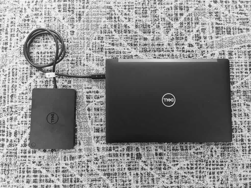 Dell Laptop With A Dell Docking Station