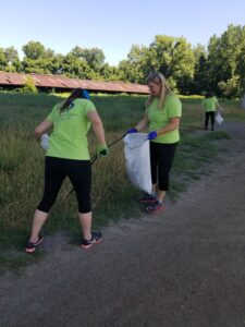 DermVA Volunteer Trash Cleanup at the James River Park System