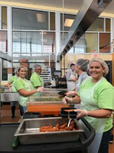 DermVA Volunteers with Feed More / Meals on Wheels