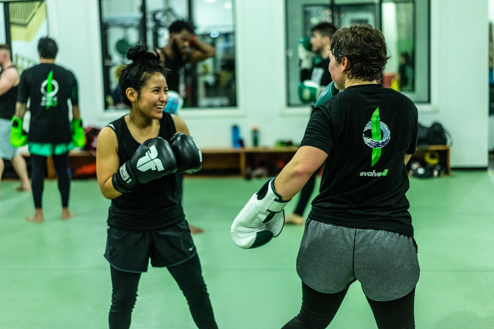 Kickboxing and Muay Thai classes at EvolveAll in Arlington Virginia