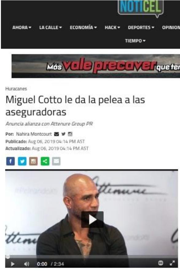 Miguel Cotto le da la pelea a las aseguradoras