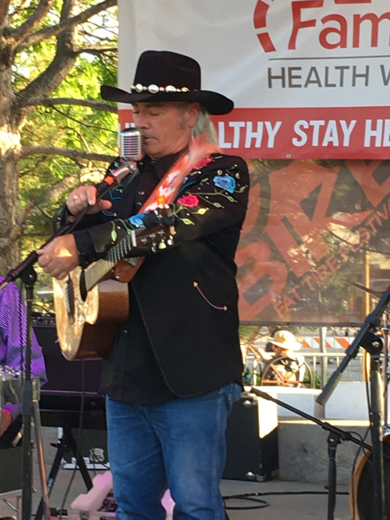 Steve Griggs performs live on stage in Fruita California