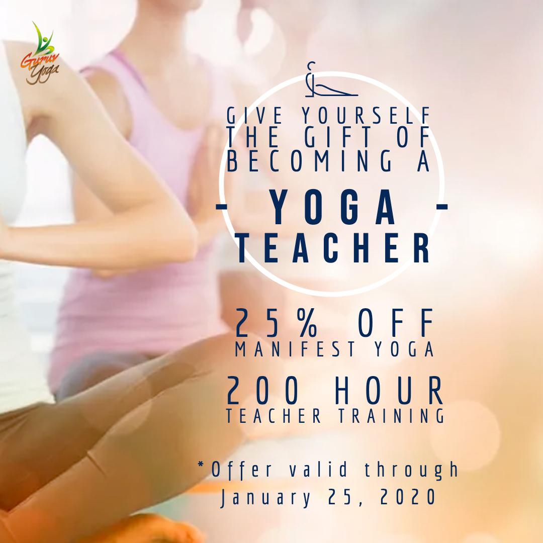 Guruv Yoga 2020 Teacher Training Savings