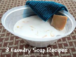 Cleaning - 3 Laundry Soap Recipes with as little as 3 ingredients